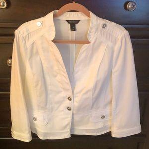 WHBM White Jacket